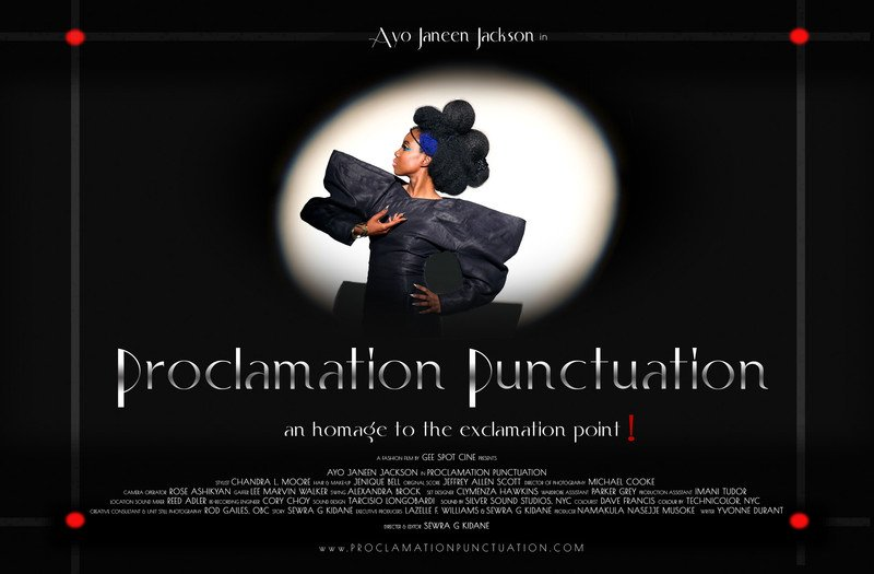 Film Poster ProclamationPunctuation