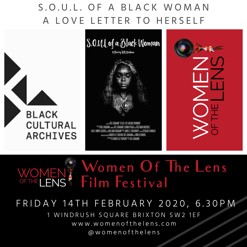 Women Of The Lens Screens SOUL Of A Black Woman with the Black Cultural Archives 14 Feb '20